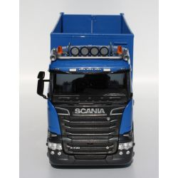 Emek Lastbil Scania R730 Tridem lastväxlare med högt flak