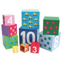 Jabadabado Stapelbar kuber med siffror 1-10