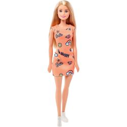 Barbie Entry Docka Med Orange Klänning FJF14