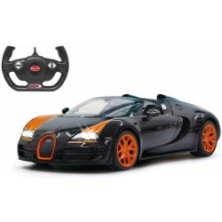 Radiostyrd Bil Bugatti Grand Sport Vitesse Svart 1 1:14 - 2,4 GHz