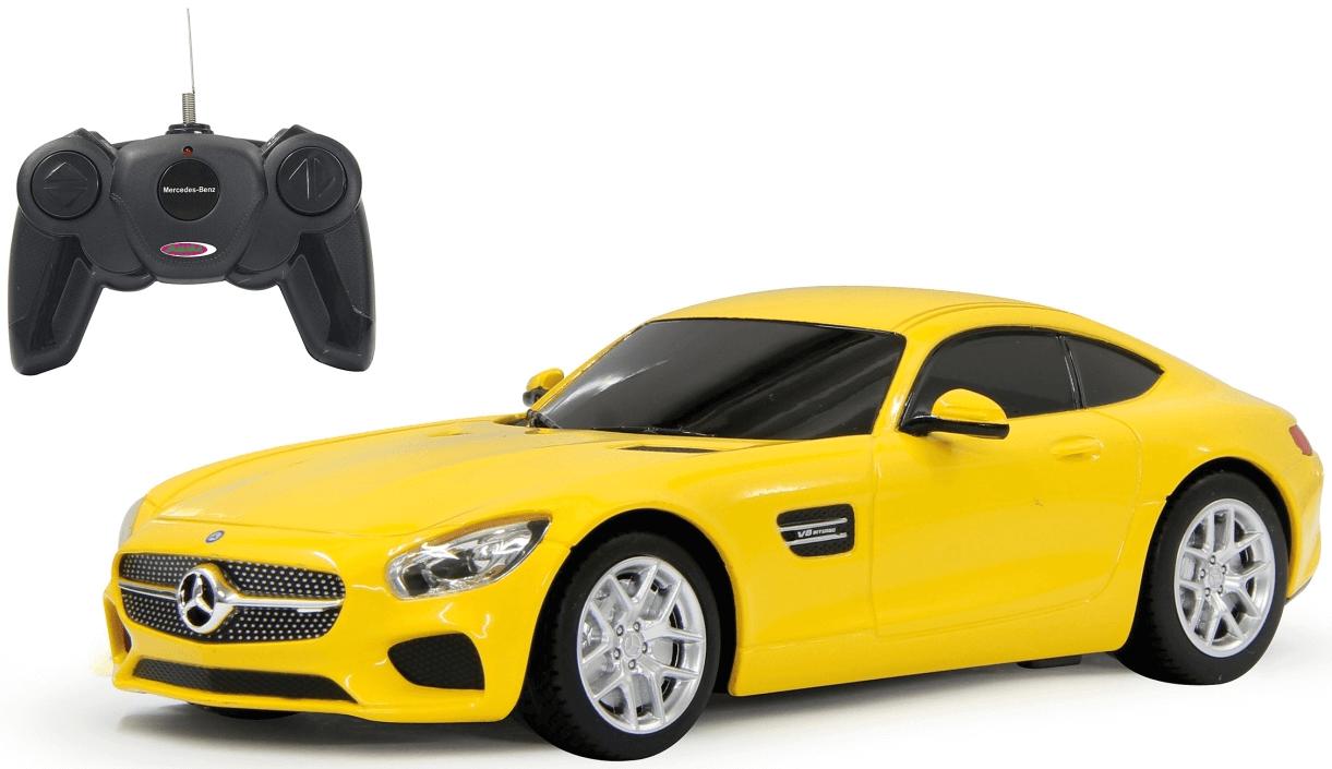 Radiostyrd Bil Mercedes AMG GT Gul Jamara 1:24 - 27 MHz