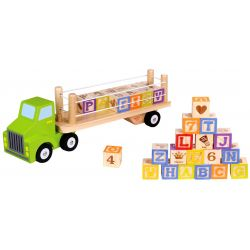 Tooky Toy Lastbil med Alfabetsklossar
