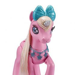 Robo Alive Magical Unicorn med stallbox Rosa