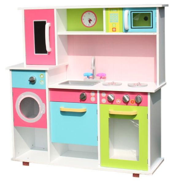 Läs mer om Leksakskök med spis tvätt- och diskmaskin