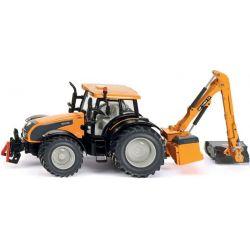 Traktor Valtra Kuhn med dikesklippare. 1:32