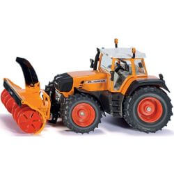 Traktor Fendt 930 med snöslunga. 1:32 Siku.