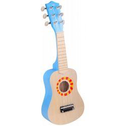 Blå leksaksgitarr 50cm