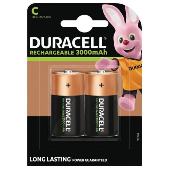 C/LR14 1,5 Volt Uppladdningsbara Duracell Batterier Ultra C 3000mAh. 2 st.