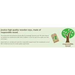 Jouéco Pizzaugn i trä för barn 25 delar