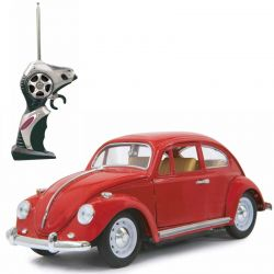 Radiostyrd Bil VW Beatle Die Cast Röd 1:18 - 27 MHz