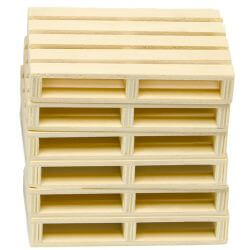 Kids Globe wooden pallets set of 6 pcs 1:16