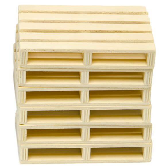 Kids Globe wooden pallets set of 6 pcs 1:16