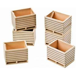 Kids Globe wooden potatoebox set of 6 pcs, 1:32