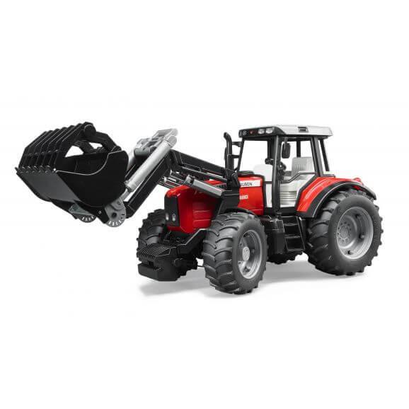 Traktor Massey Ferguson 7480 med frontlastare. Bruder. Skala 1:16
