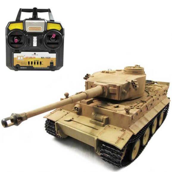 Radiostyrd Stridsvagn Tiger I Soft Air Gun 1:16 Metall Amewi