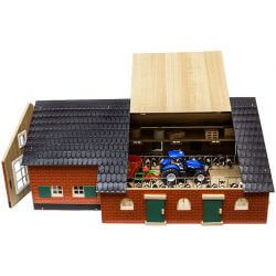 Djurstall med gårdskontor. Kids Globe. 1:32