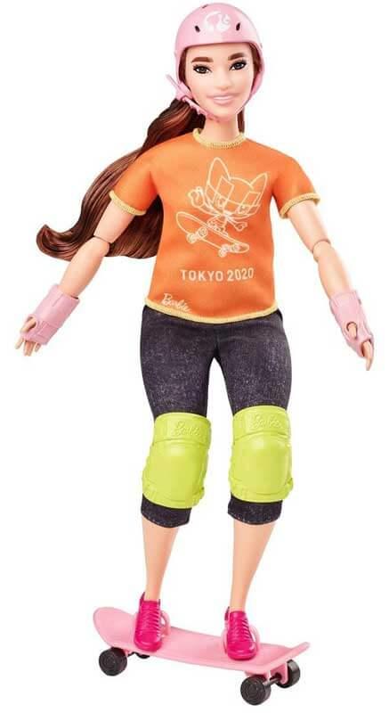 Barbie Olympics Skateboarder Docka