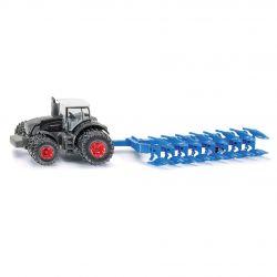 Siku traktor Fendt 939 med plog. Siku.