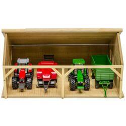Maskinhall för Siku traktorer. Kids Globe. Skala 1:50