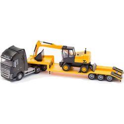 Volvo Semitrailer med grävare. Emek 1:25