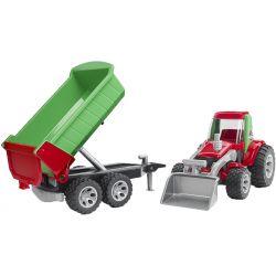 Traktor med släpkärra Roadmax. Bruder.