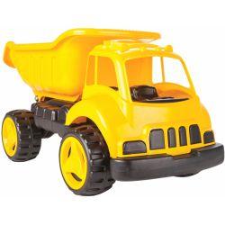 Lastbil gul och svart med tippbart flak